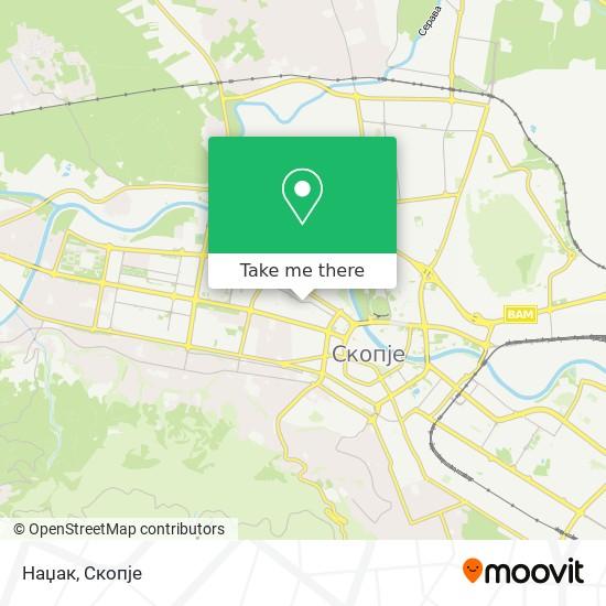 Наџак map