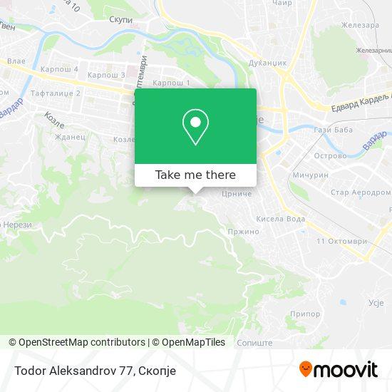 Todor Aleksandrov 77 map