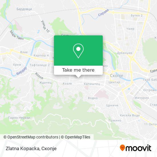 Zlatna Kopacka map