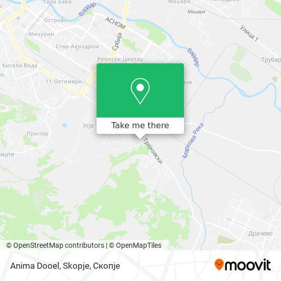 Anima Dooel, Skopje map