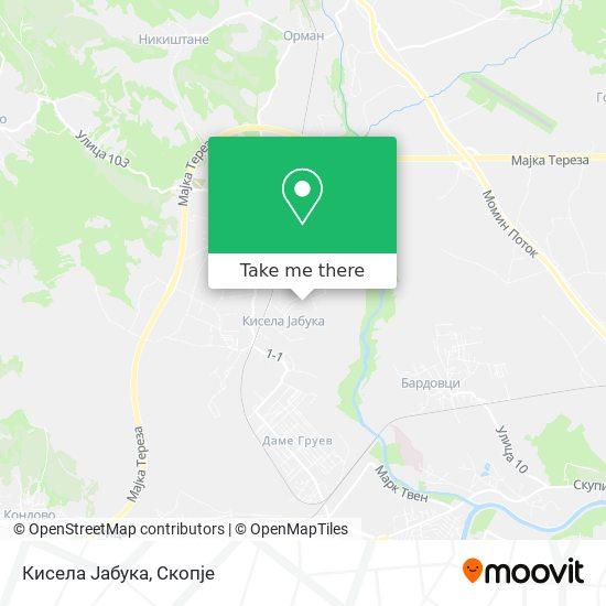 Кисела Јабука map