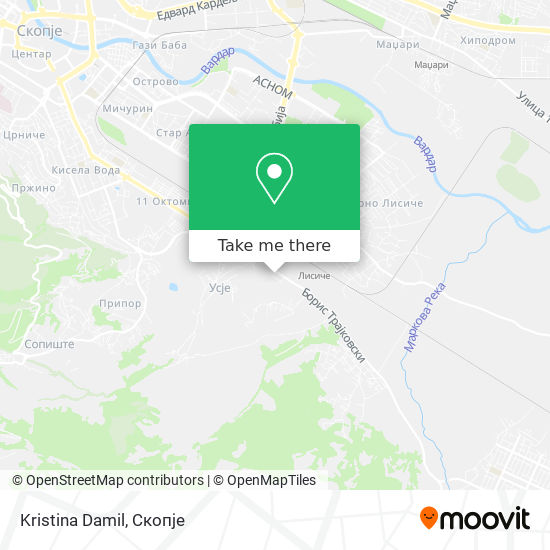Kristina Damil map