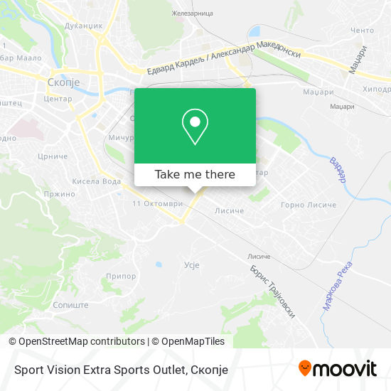 Sport Vision Extra Sports Outlet map