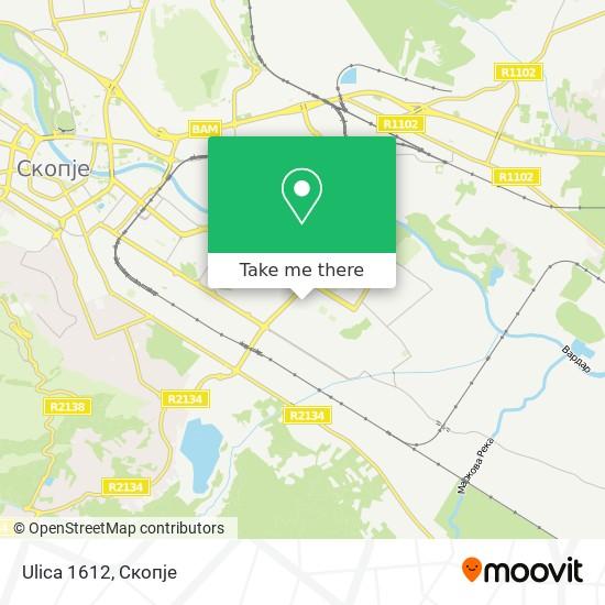 Ulica 1612 map