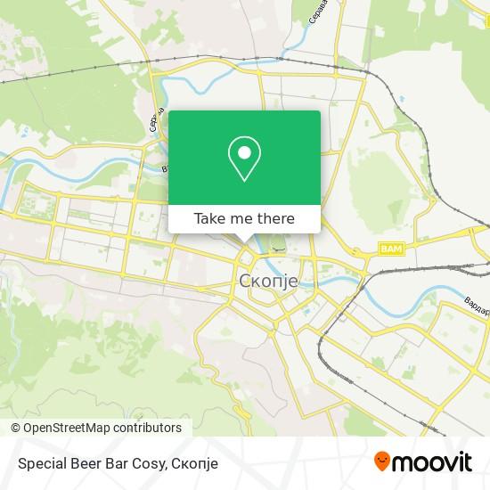 Special Beer Bar Cosy map