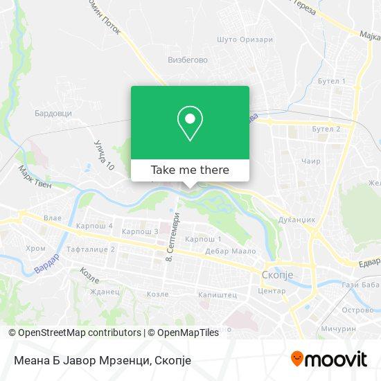Меана Б Јавор Мрзенци map