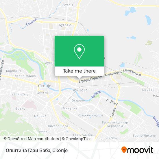 Општина Гази Баба map