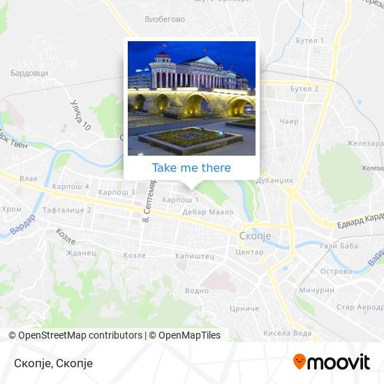Скопје map