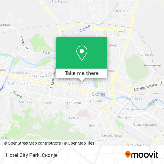 Hotel City Park map