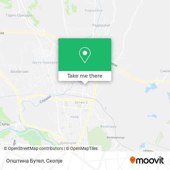 Општина Бутел map