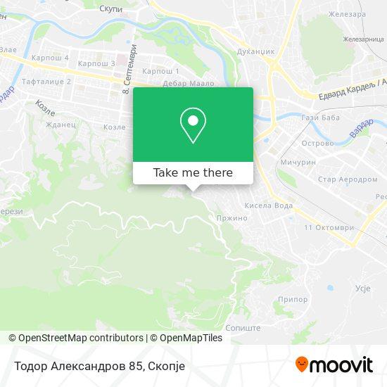 Todor Aleksandrov 85 map