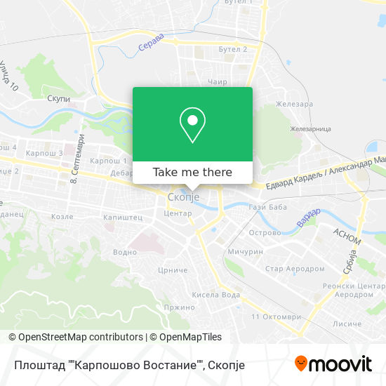 """Плоштад """"""""Карпошово Востание"""""""" map"""