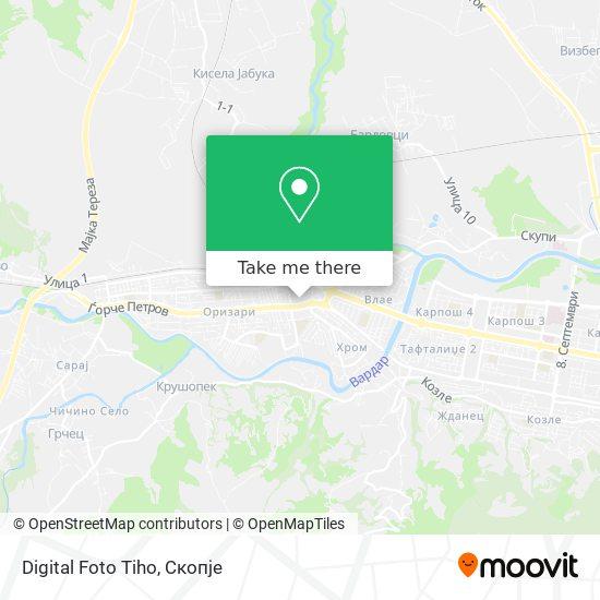 Digital Foto Tiho map