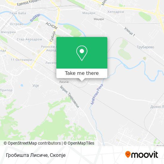 Гробишта Лисиче map