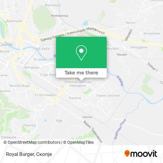Royal Burger map