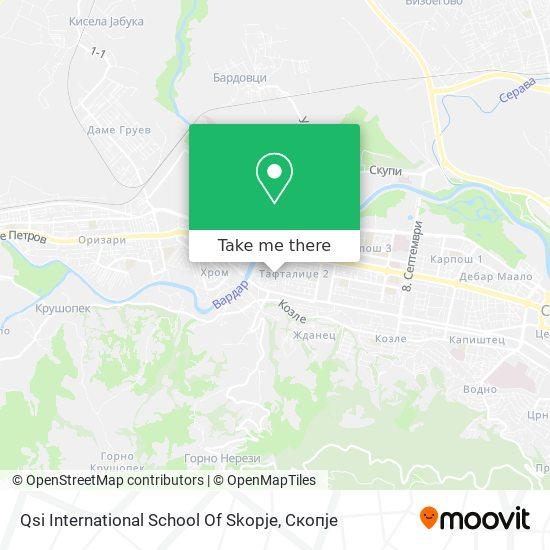Qsi International School Of Skopje map