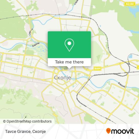 Tavce Gravce map