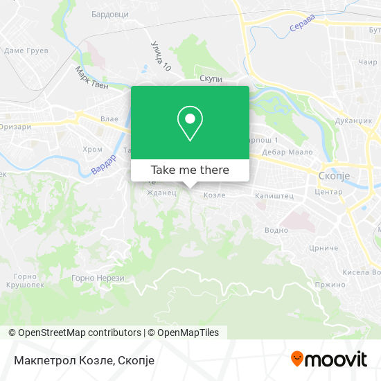 Макпетрол Козле map