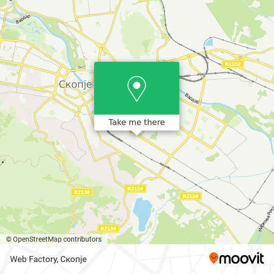 Web Factory map