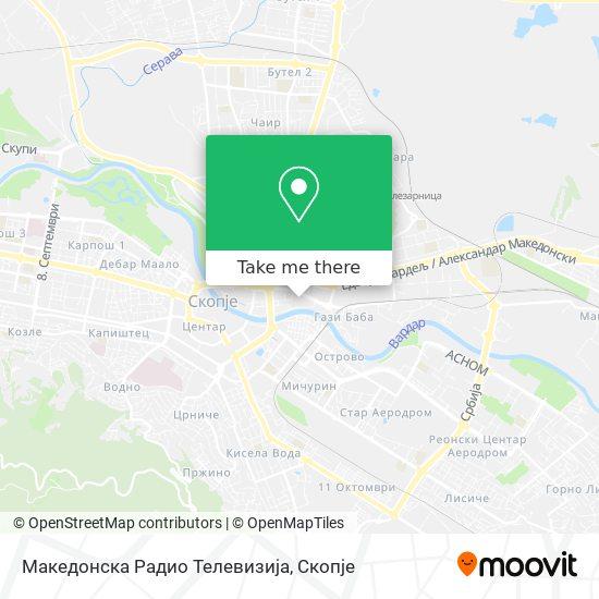 Македонска Радио Телевизија map