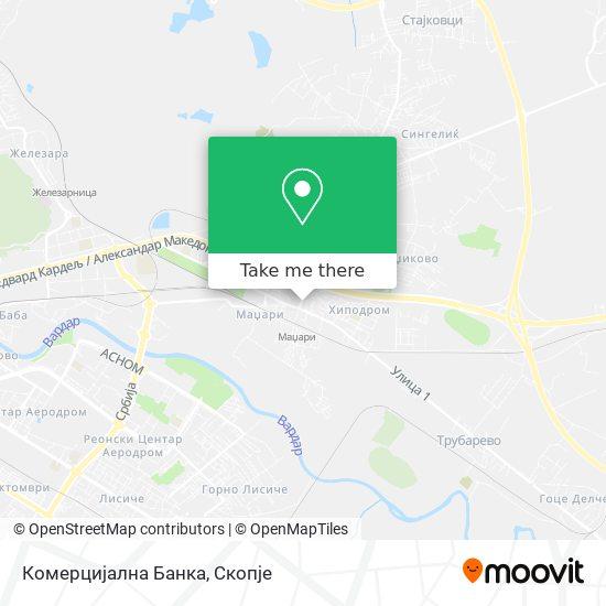 Комерцијална Банка map