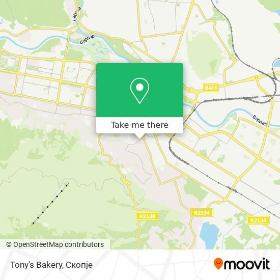 Tony's Bakery map