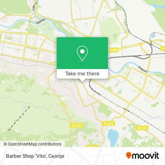 Barber Shop 'Vito' map