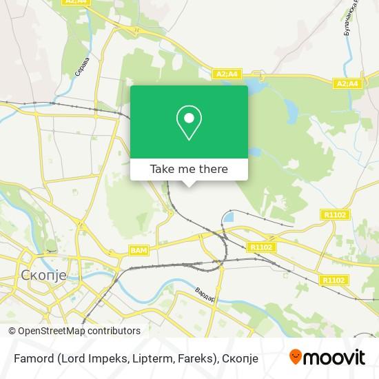Famord (Lord Impeks, Lipterm, Fareks) map