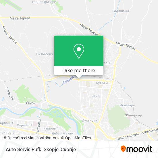 Auto Servis Rufki Skopje map