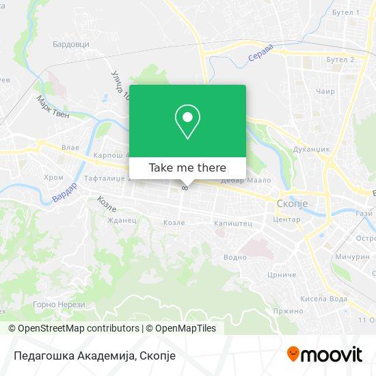 Педагошка Академија map