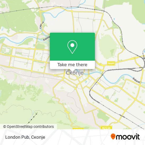 London Pub map