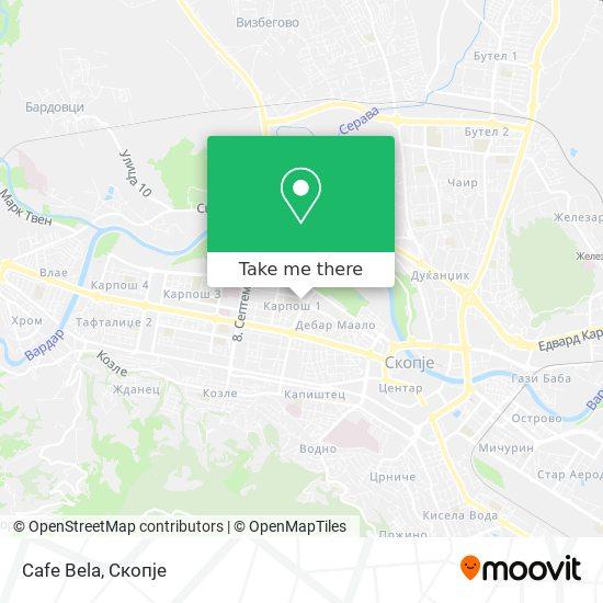 Cafe Bela map