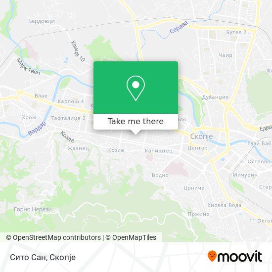 Сито Сан map