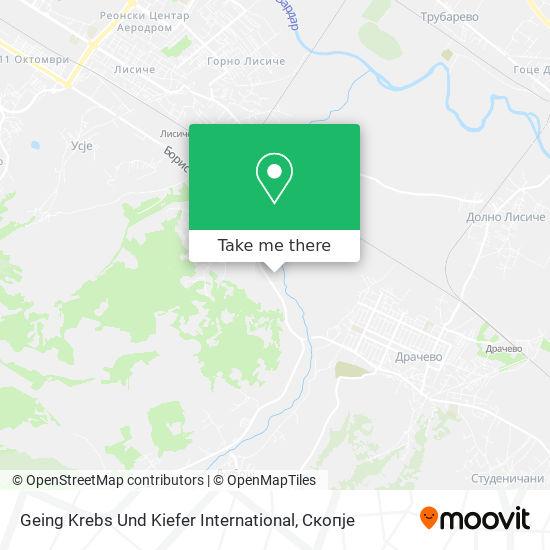 Geing Krebs Und Kiefer International map
