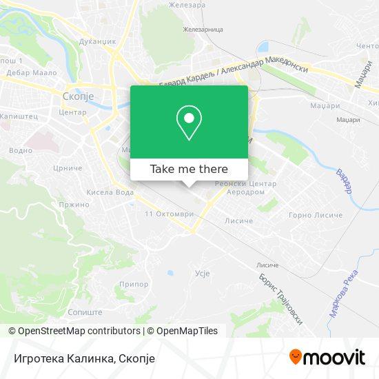 Игротека Калинка map