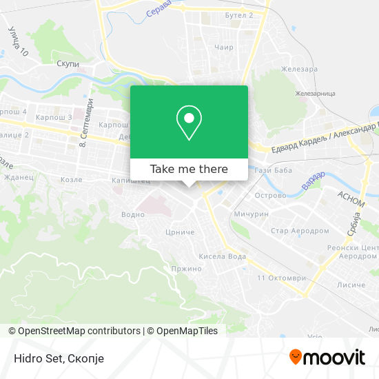 Hidro Set map