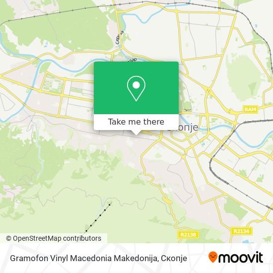 Gramofon Vinyl Macedonia Makedonija map