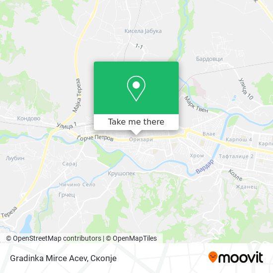 Gradinka Mirce Acev map