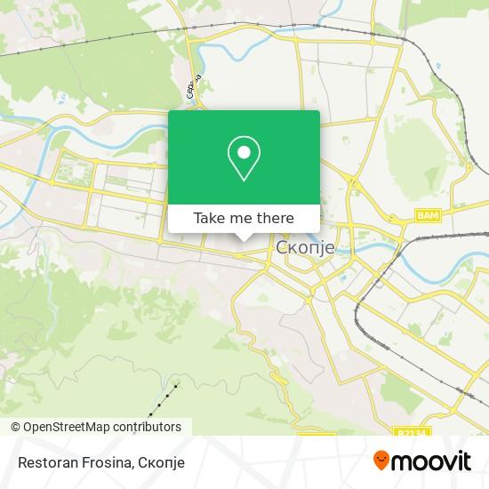 Restoran Frosina map