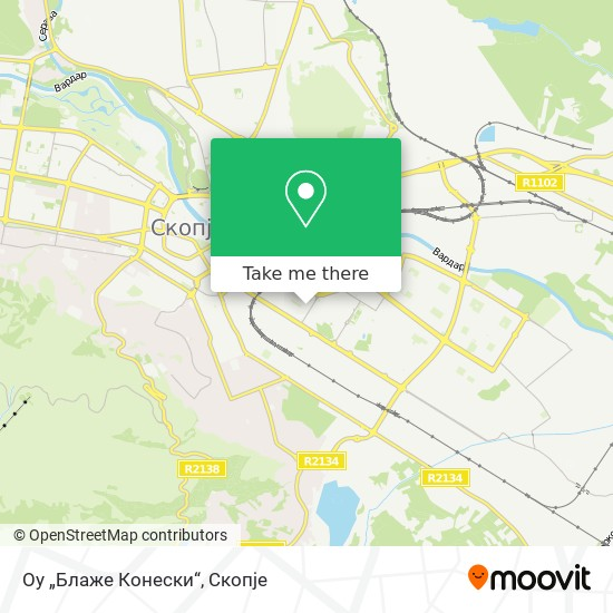 "Оу ""Блаже Конески"" map"