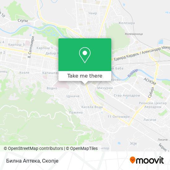 Билна Аптека map