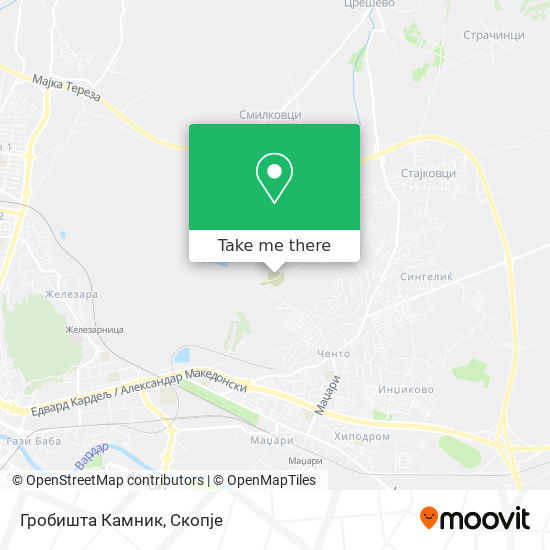 Гробишта Камник map