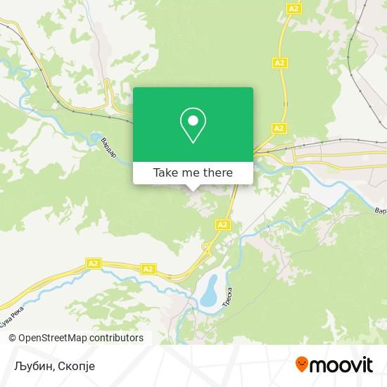 Љубин map