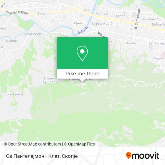 Св.Пантелејмон - Клет map