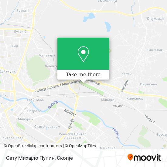 Сету Михајло Пупин map