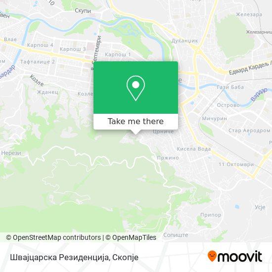 Швајцарска Резиденција map