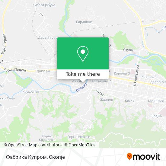 Фабрика Купром map