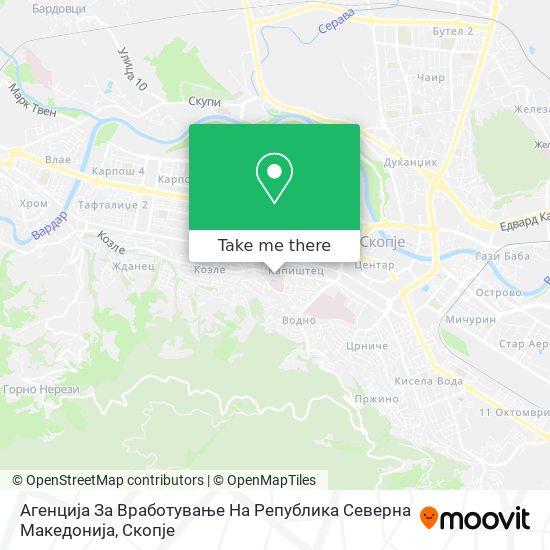 Агенцијата За Вработување На Република Македонија map