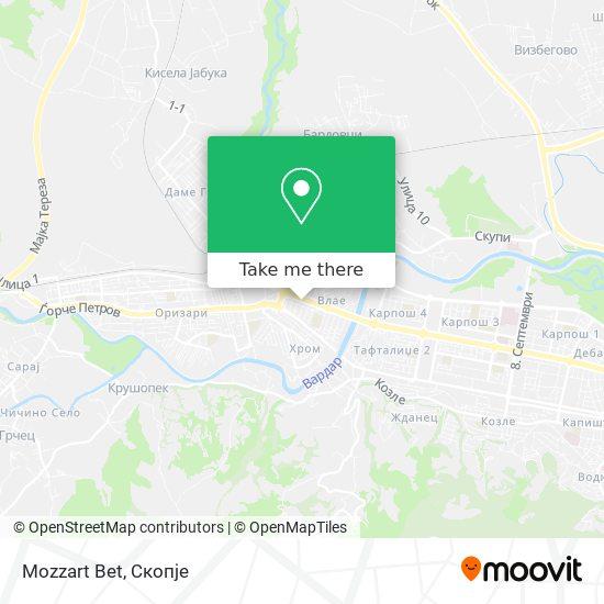 Mozzart Bet map