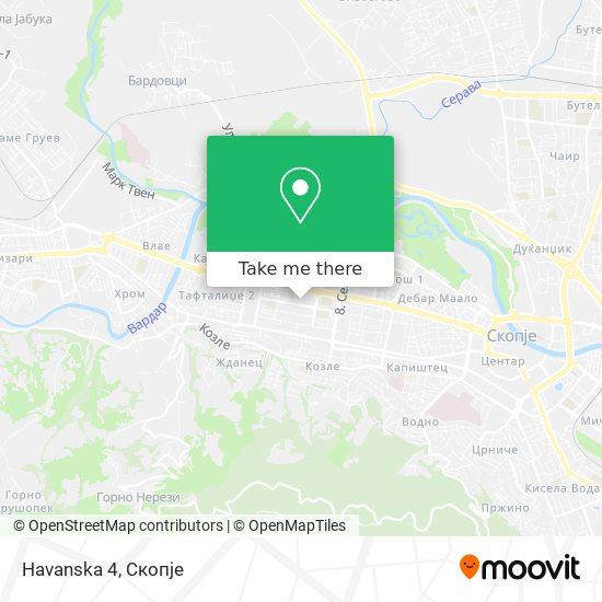 Havanska 4 map